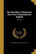 NOVELLINO OF MASUCCIO NOW 1ST
