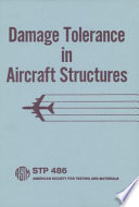 Damage Tolerance in Aircraft Structures   Stp 486