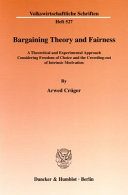 Bargaining theory and fairness