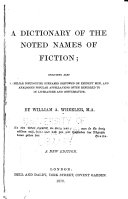 download ebook a dictionary of the noted names of fiction pdf epub