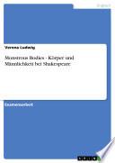 Monstrous Bodies   K  rper und M  nnlichkeit bei Shakespeare