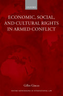Economic, Social, and Cultural Rights in Armed Conflict