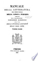 Manuale della letteratura del primo secolo della lingua italiana comp