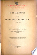 The Register Of The Great Seal Of Scotland 1306 1424