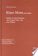 Klaus Mann als Erzähler
