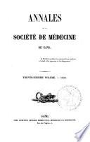 Annales de la Société de médecine de Gand