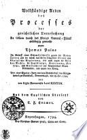 Vollständige Acten des Processes der gerichtlichen Untersuchung Ex Officio durch des Königs General-Fiscal anhängig gemacht gegen Thomas Paine