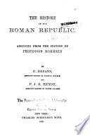 The History of the Roman Republic