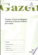 Gazette Congress of Local and Regional Authorities of Europe June 1999, No. 2/99