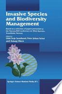Invasive Species and Biodiversity Management
