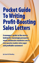 Pocket Guide to Writing Profit Boosting Sales Letters