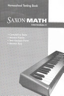 Saxon Homeschool Intermediate Math Testing Book Grade 4