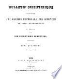 Bulletin scientifique publi   par l Acad  mie imp  riale des sciences de Saint P  tersbourg