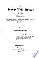 Die franz  sische Armee im J  1854   55