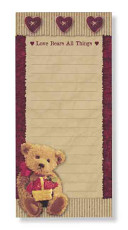 Love Bears All Magnetic Notepad