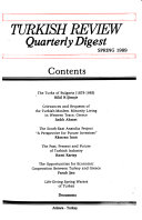 Turkish Review Quarterly Digest