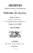 download ebook archives généalogiques et historiques de la noblesse de france pdf epub
