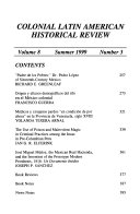 Colonial Latin American Historical Review Book PDF