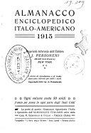 Almanacco enciclopedico italo americano