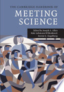 The Cambridge Handbook of Meeting Science