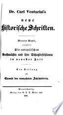 Karl [Heinrich Georg] Venturini's Neue historische Schriften