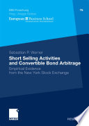 Short Selling Activities And Convertible Bond Arbitrage