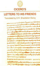 Cicero's Letters to His Friends