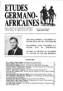 Etudes Germano africaines