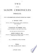Two of the Saxon Chronicles
