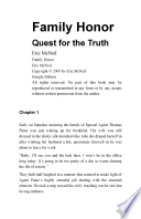 Family Honor Quest for the Truth