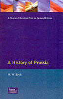 . A History of Prussia .