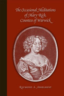 The Occasional Meditations of Mary Rich  Countess of Warwick