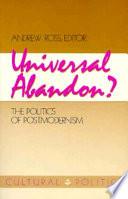 Ebook Universal Abandon? Epub Andrew Ross Apps Read Mobile