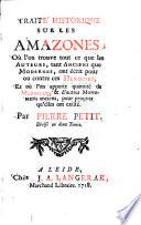 Traité historique sur les Amazones