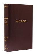 NKJV, Pew Bible, Large Print, Hardcover, Burgundy, Red Letter Edition