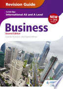 Cambridge International As A Level Business Revision Guide 2nd Edition book