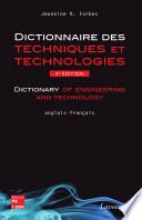 Dictionnaire des techniques et technologies nouvelles   Anglais fran  ais  4e ed