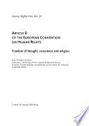 Article 9 of the European Convention on Human Rights