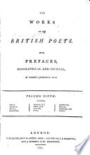 The Works of the British Poets  Swift  Thomson  Watts  Hamilton  Philips  A   West  G   Collins  Dyer  Shenstone  Mallet  Akenside  and Harte