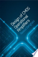 Design of CMOS Operational Amplifiers