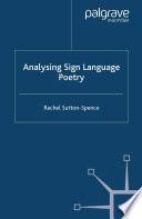 Analysing Sign Language Poetry