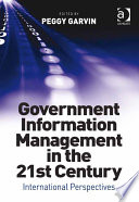 Government Information Management in the 21st Century