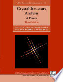 Crystal Structure Analysis book