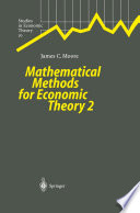 Mathematical Methods for Economic Theory 2