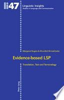 Ebook Evidence-based LSP Epub Khurshid Ahmad,Margaret Rogers Apps Read Mobile