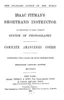 Isaac Pitman S Shorthand Instructor