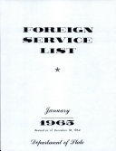 Foreign Service List September 10 1842 Amended In Manuscript