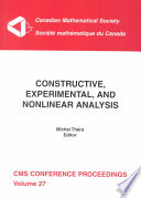 Constructive  Experimental  and Nonlinear Analysis