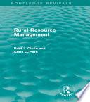 Rural Resource Management Routledge Revivals