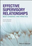 Effective Supervisory Relationships